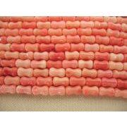 珊瑚(染色) 連販売 竹型 約6mm