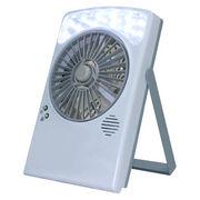 乾電池&USB対応 LEDライト付き 扇風機 LB-806 卓上型 [在庫有]