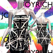 【JOYRICH】ジョイリッチ★モノトーン★ユニオンジャック★3WAYスカート/ワンピース ホワイト×ブラック