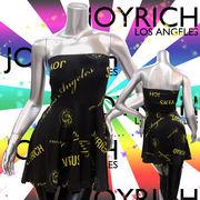 【JOYRICH】ジョイリッチ★VERSUS★ネオンカラー★ロゴ★3WAYスカート/ワンピース ブラック×イエロー
