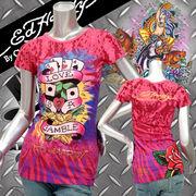 【Ed Hardy】エドハーディー★LOVE GAMBLE★Tシャツ ピンク