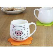 【強化】 マグカップ おしゃれ 440ml絵柄付丸いマグカップ 絵柄(十二支 猪)