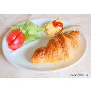 """HAKUJI~ 白い食器~ ランチプレート """"3""""-round*朝食・昼食これ1枚で、洗う手間省きます。"""