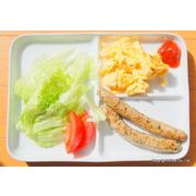 "HAKUJI~ 白い食器~ ランチプレート ""3""スクウェア*朝食・昼食これ1枚で、洗う手間省きます。"