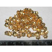チベタン 座金 シースター ピンクゴールド 約6mm【100個セット】
