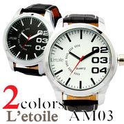 腕時計 メンズ L'etoile レトワール ビッグフェイス AM03