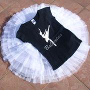 バレエ【Tシャツ】バレリーナ黒(バレエ用品ダンスウエア) ジュニアから大人用ウォームアップウエア
