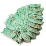天然石ターコイズ/トルコ石 インディアン彫刻アクセサリーパーツt506
