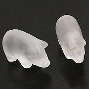 天然石 パワーストーン / 水晶・クリスタルクォーツ 豚・ブタ 置物