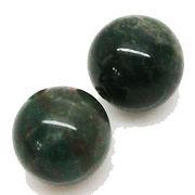 天然石 パワーストーン /ブラッドストーン   丸玉ビーズ 7~8mm