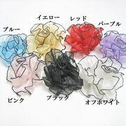 【OEM小ロットOK】インドサテンコサージュ・バレッタ2WAY☆15CM全7色
