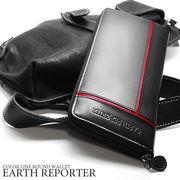 ★ ER-103★ EARTH REPORTER カラーラインが入ったデザインのラウンドウォレット