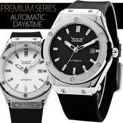 【カレンダー機能付き】★42mmフェイスバックスケルトン自動巻き腕時計【保証書付】