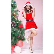 【即納】X'masベルト&ボレロ付クリスマス衣装・サンタ コスチュームハロウィンコスプレ