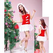 【即納】 X'masフード一体クリスマス衣装サンタさんコスプレクリスマスコスプレコスチューム