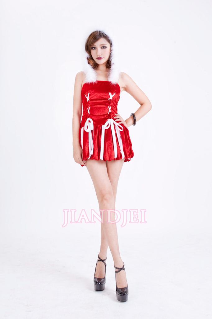 【即納】 X'masフード一体クリスマス衣装サンタさんコスプレ コスチュームハロウィンセクシークリスマス