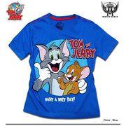★オシャレに決まる!★大人気アニメ「トムとジェリー」のビンテージ風カスレプリントTシャツ(NICE)
