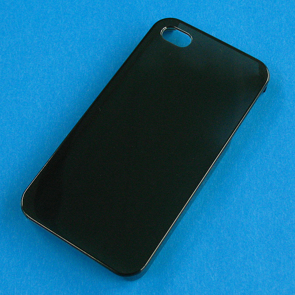 ★SALE★【I4/PC】auソフトバンク iPhone4/S (アイフォン4) クリアブラック(透明色)ハードPC素材