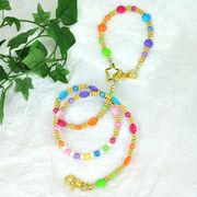 【L'ange】 ビーズリード&ネックレス 2点セット hawaiian beads
