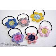 ■ピズム■ cottonヘアゴム popflower