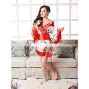 着物 オレンジ色帯 花柄仕上げ着物コスプレ和服ワンピコスプレコスチュームハロウィンsale