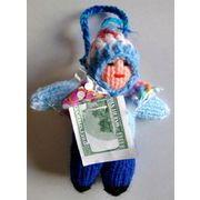 ニットの編み込みエケコ人形
