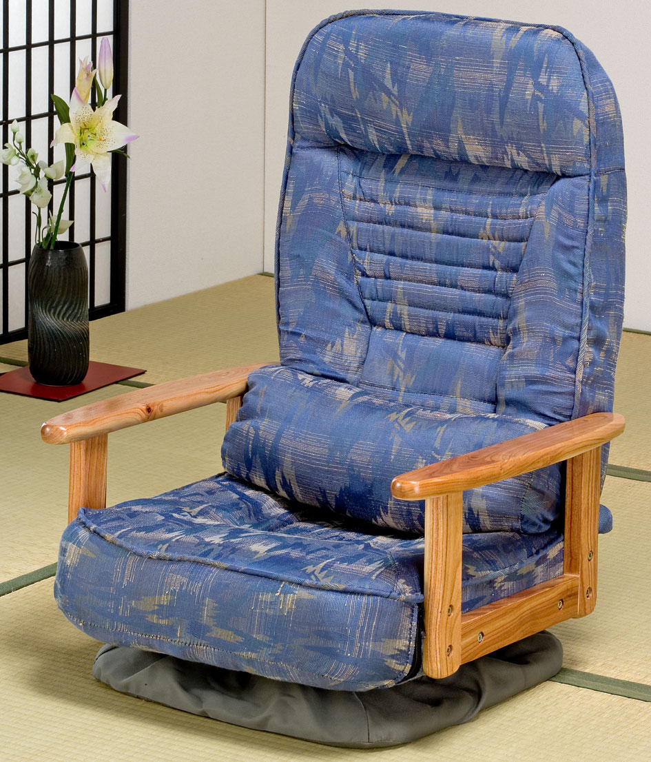 折り畳み式♪木肘回転座椅子