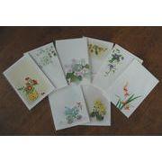 花のイラスト絵はがき8枚セット