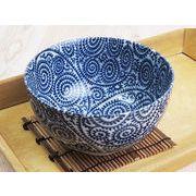 【小さめ丼メニューやミニヌードルに】 藍染の伝統美 たこ唐草 小丼