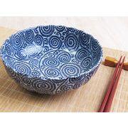 【この深さが魅力】 藍染の伝統美 たこ唐草 ゆったり中鉢