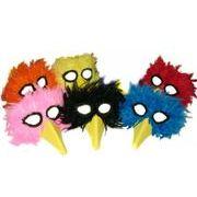 アメリカからの直輸入品 本物の羽を使用した くちばし付きマスク【バードビークマスク】