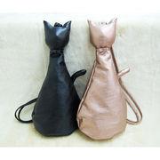 【オシャレで上品な猫のシルエット型バッグ】ウーマンキャット・バック ≪ネコ≫