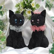 【ウェディングやパーティーでウェルカムトイして使える】黒猫のジル&ベル≪ネコ≫