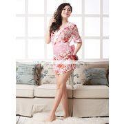 浴衣 着物ドレス 桃色 和服コスプレ コスチューム 帯付き 半袖コスプレ 4007