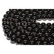 【丸ビーズ】黒トルマリン (3A) 8mm