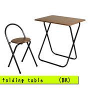 フォールディングテーブルセット(ブラウン)