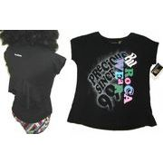 Kids♪ROCAWEAR バックフリルTシャツ 【ブラック/ホワイト】