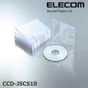 ELECOM(エレコム) Blu-ray/DVD/CDケース(スリム/PS/1枚収納) CCD-JSCS10CR