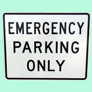 US EMERGENCY PARING ONLY トラフィックサインボード
