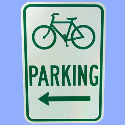 US BICYCLE PARKING トラフィックサインボード