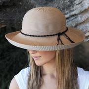 UVカット帽子 - レディース ハット- シルエット スタイル モカ