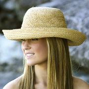 UVカット帽子 - レディース ハット- クローシェ ブレトン ナチュラル