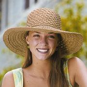 UVカット帽子 - レディース ハット- クローシェ ラフィア キャプリーヌ ナチュラル