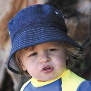 UVカット帽子 - キッズ ハット -  リバーシブル コットン バケット ハット 50cm