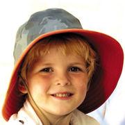 UVカット帽子 - キッズ ハット -  リバーシブル クリケット ハット カーゴ サイズ:52cm/55cm