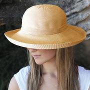UVカット帽子 - レディース ハット- シルエット スタイル ベージュ