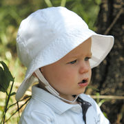 UVカット帽子 - ベビー ハット -  トドラー サウスウェスター ホワイト サイズ:43/46/49/52cm