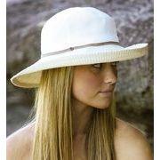 UVカット帽子 - レディース ハット- ツートーン サウスウェスター ホワイト