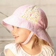 UVカット帽子 - キッズ ハット -  トドラー サウスウェスター ソフトピンク サイズ:43/46/49/52cm