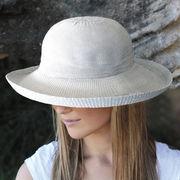 UVカット帽子 - レディース ハット- シルエット スタイル アイボリー